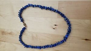 """Collectible HAND CRAFTED  GENUINE LAPIS  NECKLACE 17"""" LONG."""