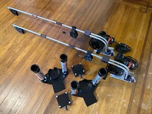 TWO BIG JON ELECTRIC DOWNRIGGERS with DUAL ROD HOLDERS – REBUILT