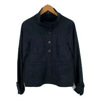CUE Womens Jacket Size 10 Black Long Sleeve Button Closure