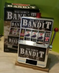 Reczone One Armed Bandit Toy Slot Machine Bank w/Sounds & Lights