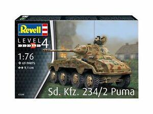 Sd.kfz. 234/2 Puma Réservoir 1:76 Plastique Model Kit 03288 Revell