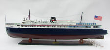 SS Badger Passenger & Vehicle Ferry Wooden Model Ready Display Scale 1/120