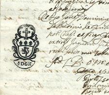 Manoscritto Suddivisione testamentaria del fu Antonio Marchi di Serravalle 1755