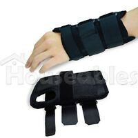 New Pair Carpal Tunnel 2 Wrist Brace Support Sprain Forearm Splint Band Strap
