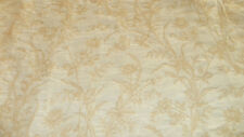 Off White Cream Flower Print Brocade Upholstery Fabric 1 Yard  F631