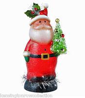 CHRISTMAS DECORATIONS - LIGHTED SANTA WITH CHRISTMAS TREE SHIMMER LIGHT