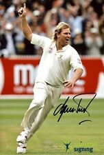 Shane Warne Australia Cricket Hand Signed 12x8 Photo PROOF