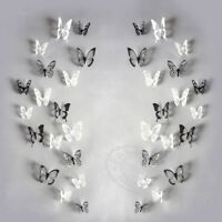 18 PCS Pvc Removable Wall Decor Art Diy Creative 3D Butterfly Wall Stickers G6Z