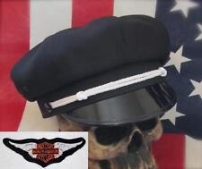 VINTAGE OLD SCHOOL STYLE BIKER ROAD CAPTAIN'S HAT, BAR & SHIELD PATCH !!