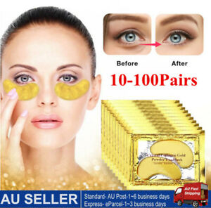 100 Pairs Gold Gel Anti-Wrinkle Dark Circle Collagen Under Eye Patches Pad Mask
