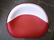 IH Farmall Deluxe Upholstered Seat Pan Red & White New