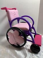"""MY LIFE PINK & PURPLE ROLLING WHEELCHAIR ANY 18"""" DOLL HOSPITAL TOY ACCESSORY"""