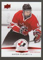 (56546) 2014-15 UPPER DECK TEAM CANADA JUNIORS RED HAYDN FLEURY #29 (112/199)