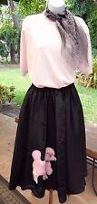 Super Cute 3 Pc Happy Days 50s Costume w/Full Skirt, Sweater Top, & Scarf (S-M)