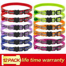 12X Reflective Kitten Collar With Bling Bells 6 Colors Adjustable Cat Collars