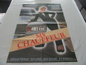 altes Kinoplakat Filmposter A1 MY CHAUFFEUR die Nr. 1 Filmkomödie aus USA