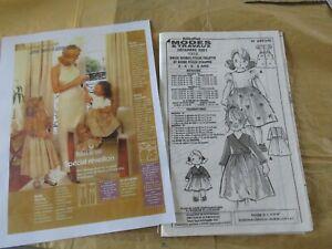 patron poupée Emilie et enfant modes et travaux decembre 2001