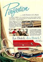 1960 BUICK SEDAN & S.W. AUTOMOBILE ORIGINAL AD IN FRENCH