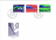 Liechtenstein 1982 MiNr. 799-801 Fußball WM  Ersttagsbrief FDC