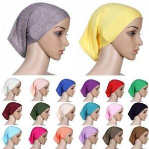 Inner Cap Hijab Islamic Cover Muslim Colours Under Scarf Hat Tube Bonnet
