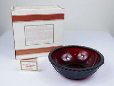Avon Cape Cod Ruby Red Glass Serving Candy Bowl Dish Brand New