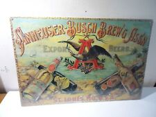 Anheuser-Busch Brewing Print Export Beers Repro Nostalgic Ink Advertising Sealed