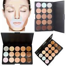 15Colores Corrector Crema Concealer Maquillaje de Cara Contorno Paleta Make Up
