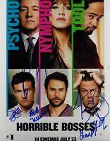 Horrible Bosses Cast Signed Autographed 11X14 Photo Bateman Sudekis + GV849481