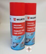[20,44€/L] 2x Würth Edelstahlpflegespray Reiniger Pflege Spray 2x 400ml 0893121