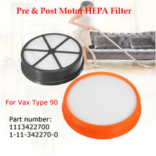 Pre & Post Motor HEPA Filter Kit For Vax Mach Air Upright Type 90 Vacuum Cleaner