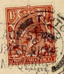 1934 King George Three Half Pence Postage Stamp Used