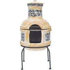 2nd La Hacienda Pedro Clay Chiminea Patio Heater With Barbecue 67030.
