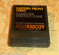 Eastern Front 1941 cartridge Atari 400/800/XL/XE computer COMES GUARANTEED GAME