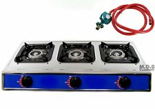 """Ematic Stove Triple 3 Head Burner 28"""" Countertop Outdoor Camping Stainless..."""