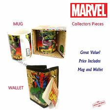 Marvel Collectors Pieces - Wallet (Hulk Spiderman Ironman) PLUS Mug (Hulk) NEW