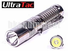 UltraTac K18 Cree XP-G2 S4 LED AAA 10440 Carabiner Stainless Steel Flashlight
