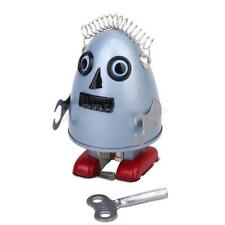 Retro Wind Up Walking Egg Head Alien Robot Clockwork Tin Toy Collectible GIFT