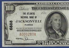 FL 1929  $100 ♚♚JACKSONVILL, FLORIDA♚♚  PMG CH EX FINE 45