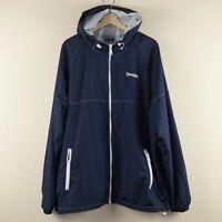 Disneyland Blue Rain Windbreaker Jacket Mesh Lining Mens Sz XL