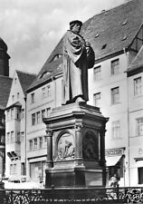 AK, Lutherstadt Eisleben, Lutherdenkmal auf dem Markt, 1969