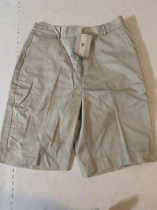 Nike Golf Ladies Khaki Shorts Size 6 Cotton Style 261486 New