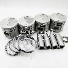 New 4 Sets STD Engine Piston & Rings, Clip, Pin for For ISUZU 4JG2 Engine