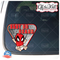 """Baby DeadPool """"BABY ON BOARD"""" Sign Vinyl Decal Sticker for Cars/Trucks"""