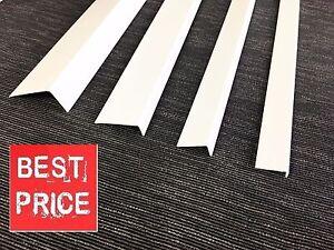 !! 1 meter !!UNEQUAL WHITE PLASTIC PVC CORNER 90 DEGREE ANGLE TRIM VARIOUS SIZES