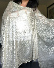 Assuit Coptic Art Deco 1920s Shawl Vintage Wedding Dress