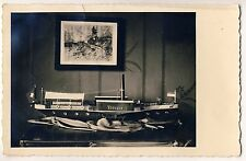 "Metal Toy swiss steamer ""Thurgau"" chapa juguetes barco mercante * vintage 30s photo PC"