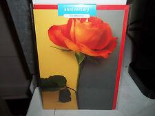 Anniversary Card New in Plastic The Art Group Deborah Schenck Orange Rose