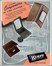 1947 Rumpp leather men's women's wallets letter case vintage art print Ad adL60