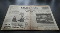 """THE JOURNAL"" EDITION OF 5 HEURES ANTIQUE NO.17315 SUNDAY 17 MARS 1940 ABE"