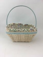 Longaberger 2003 Easter Whitewashed Basket Combo Spring Floral